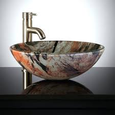 Waterfall Faucet Bathroom Sinks Small Frosted Glass Vessel Sink Oval Clear Waterfall