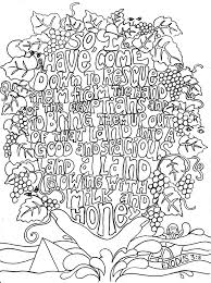 exodus 3 8 colouring in sheets of bible verses link is