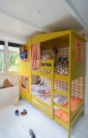 Boys Bunk Beds Ikea Turn A Ikea Bunk Bed To A Stylish Yellow Playhouse Bed Home