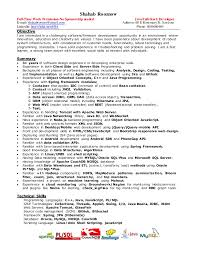 java developer resume template download java developer resume