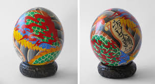 painted ostrich egg the 27 paint the fabergé ostrich eggs