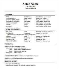 Actors Resume Template Check Here Specially For Acting Resume Exle Resume
