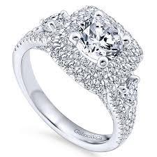 sunflower engagement ring sunflower 14k white gold halo engagement ring