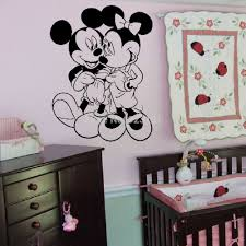 wall sticker picture more detailed picture about mickey minnie mickey minnie mouse love silhouette wall art stickers decal home diy decoration wall mural bedroom decor