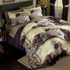 Leopard Bed Set Leopard Comforter Set And Window Treatments From Montgomery Ward