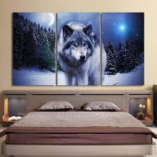 Living Room Art Paintings Wolf Art Prints Promotion Shop For Promotional Wolf Art Prints On