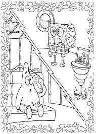 spongebob patrick talking phone coloring