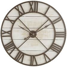 oversized white wall clock cool oversize rustic home ideas cepagolf