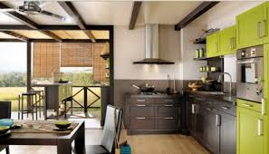 kitchen green brown kitchen cabinets countertop dining table ideas