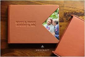 custom leather photo album wedding album leather debossing triangular cameo