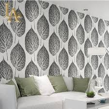 modern simple gold black white leaf wallpaper for walls decor