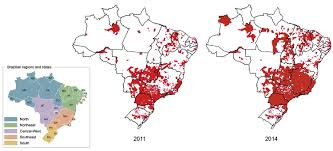 Brazil Map States by Updating The Geographical Distribution And Frequency Of Aedes