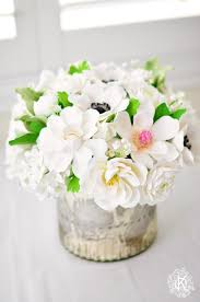white and silver home decor floral arrangement dk designs