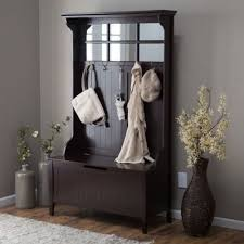 Entryway Storage Bench Compact Entryway Storage Bench With Coat Rack Inspiration
