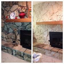 painted the stone now just need to frame out the mantel 70 u0027s