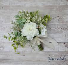 silk wedding bouquets silk wedding bouquet boho bouquet bridal bouquet greenery