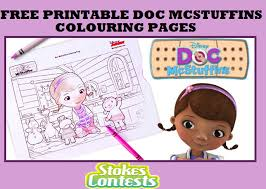 stokes contests freebie free printable doc mcstuffins coloring