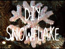 diy glitter snowflake ornament