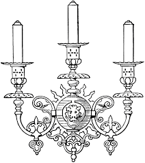 Candle Sconce Vintage Gothic Candle Sconce Image The Graphics Fairy