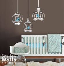 birdcages nursery wall decals birds and birdcages wall decal