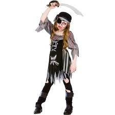 girls zombie undead kids halloween childrens horror fancy dress