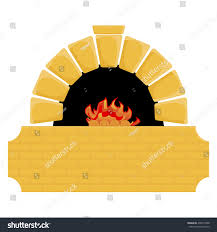wood burning stove open fireplace vector stock vector 436512388