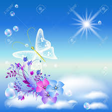 butterfly flowers flowers and butterflies in the sky royalty free cliparts vectors