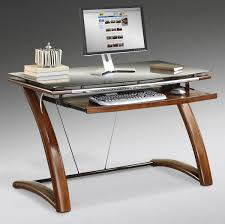 modern glass desk with drawers furniture home computer desks stylish modern excellent white