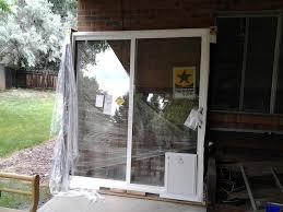 Patio Sliding Door Installation Install Ready Patio Sliding Glass Door With Dog Door Installed