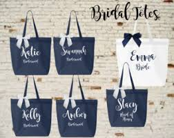 bridesmaid totes bridesmaid totes etsy