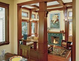 Arts And Crafts Interior Family Room Additions Using Arts And Crafts Style By Landmark Services