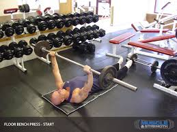 Bench Press Calculater Floor Bench Press Video Exercise Guide U0026 Tips