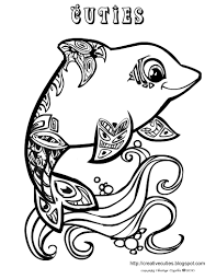 cute animal coloring pages for girls dolphins and dogs on same