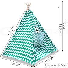kids teepee tent children home canvas pretend play playhouse tipi