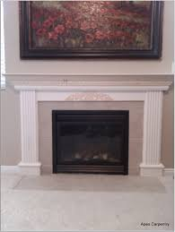 fancy white fireplace mantel design inspiration with black