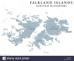 Patagonia South America Map Falkland Islands Political Map With Capital Stanley British