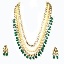 ethnic necklace images Buy le0000000460 emerald look kundan meenakari pearl ethnic jpeg