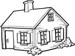 coloring page house small house in the architecture coloring page