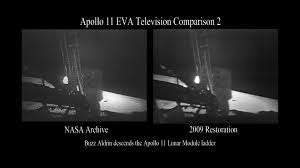 American Flag On The Moon Nvidia Cuda Technolgy Used To Recover Historic Apollo 11 Man On