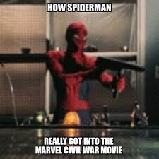 Spiderman Meme Masturbating - spiderman who s sitting there masturbating now tell me sony