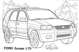coloring page jeep