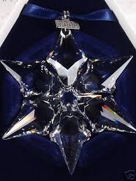 swarovski crystal snowflake ornaments swarovski 1995 crystal