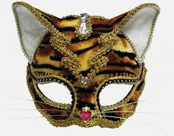 tiger headband jewelled tiger mask with headband or ribbons