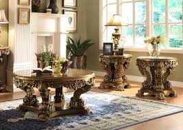 homey design hd 8008 3pcs traditional luxurious coffee end table
