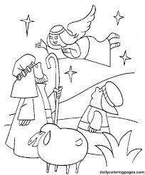 manger coloring kids coloring