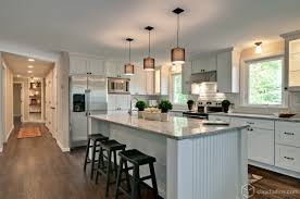 beautiful contemporary kitchen remodel with new white mission