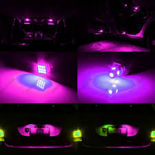 pink mini cooper 11 x pink purple led lights interior package for mini cooper