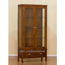 Wood Display Cabinets With Glass Doors Varnished Wood Display Cabinets Swing Glass Door Cabinet