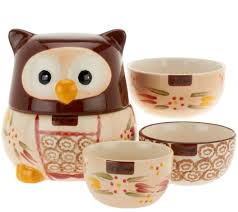 owl kitchen canisters temp tations world owl set of 4 nesting measuring cups page