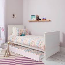 Space Saver Bed Trundle Pull Out For Single Bed In White Noa U0026 Nani